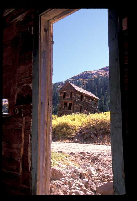 Mining ghost town east of Silverton, CO