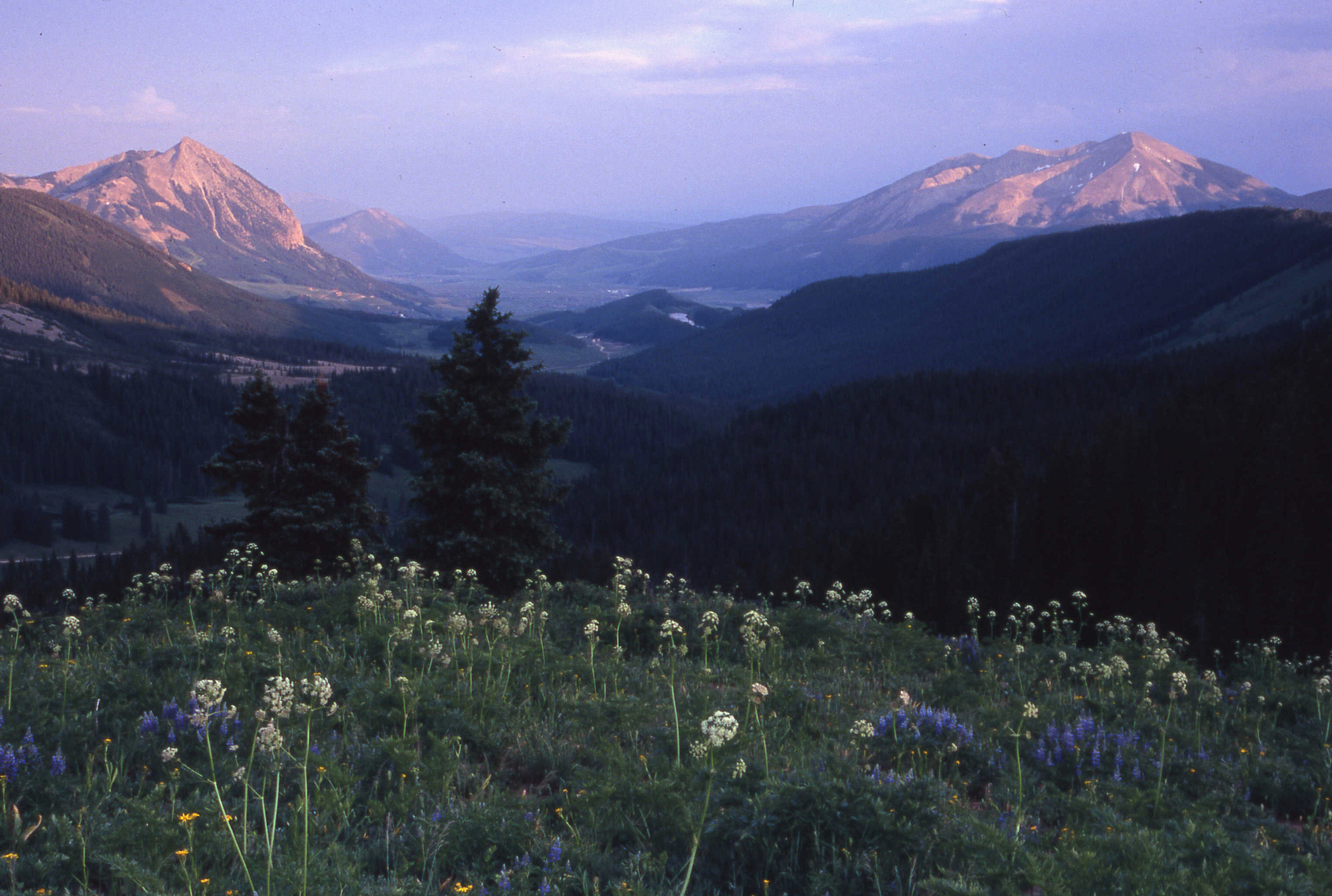 From Anthracite Mesa looking southeast towards Crested Butte
