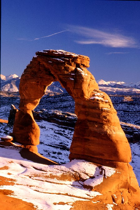 Delicate Arch, late winter afternoon