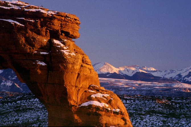 Delicate Arch, Winter Sunset