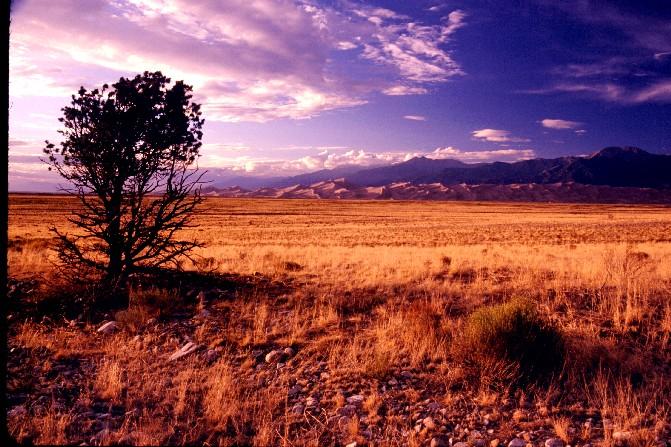 Sunset on the Grand Sand Dunes
