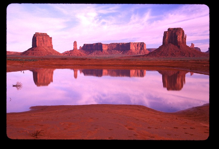 Reflection of buttes at Monument Valley