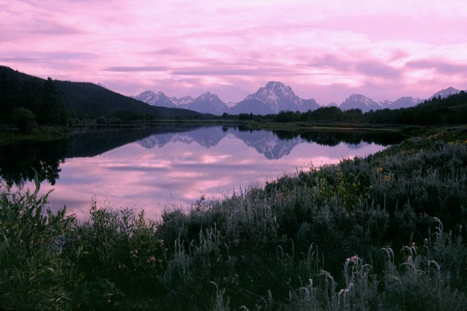 Sunset from Oxbow Bend