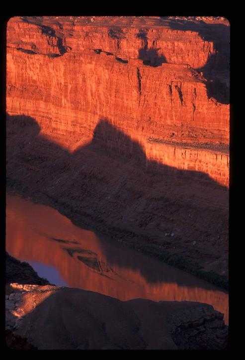 Morning shadows across the Colorado River