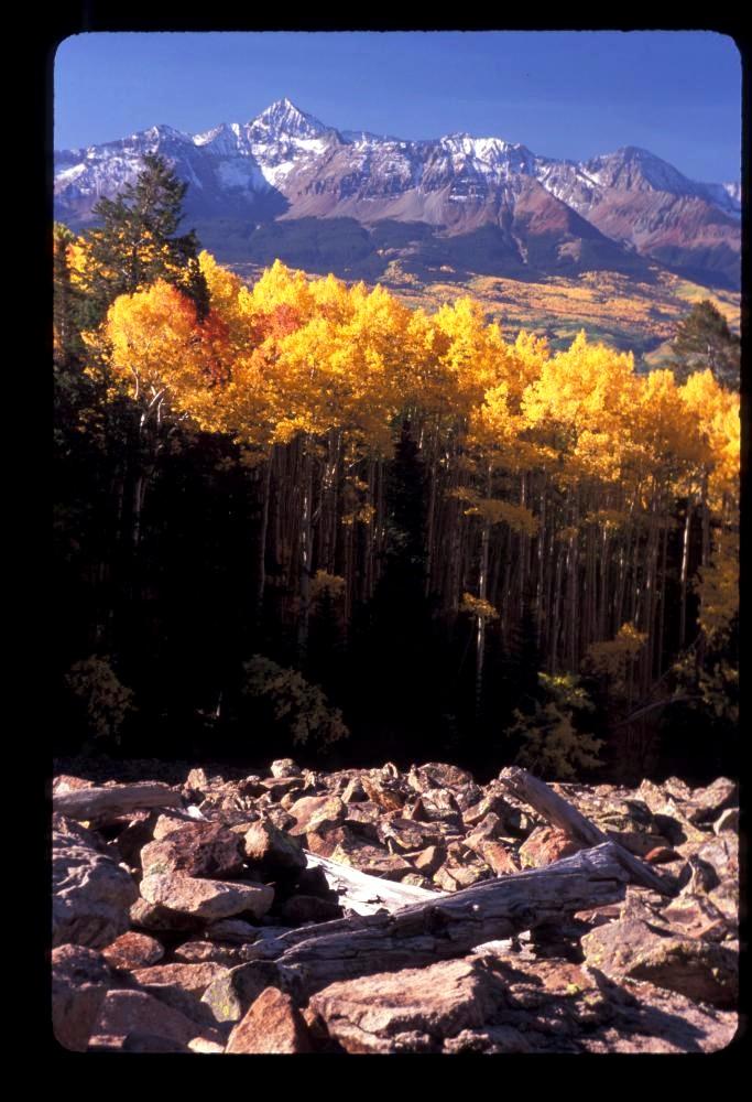 Wilson Peak and Wilson Mesa west of Telluride, Co